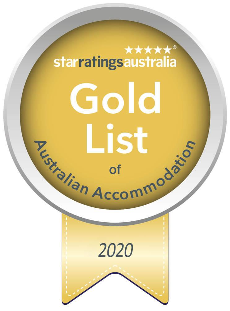 gold list award badge